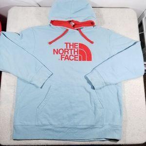 The North Face Baby Blue Logo Hoodie Sweatshirt